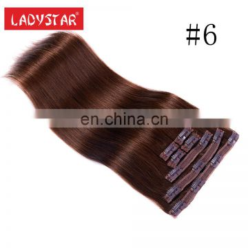 many color avaliable remy human hair clip in hair extension wholesale