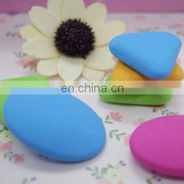 Colorful triangle and oval erasers set Geometric color Erasers