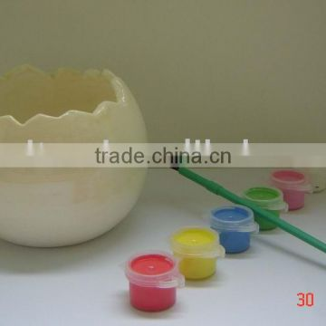 DIY Ceramic/Terracotta Outdoor Citronella Egg Shaped Candles