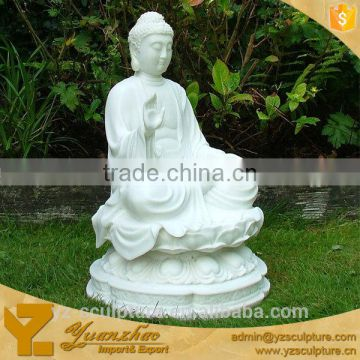 White Marble Sitting Buddha Statue For Sale