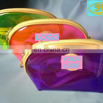 colorful pvc clear makeup organizer,colorful cosmetic tote bag,pvc plastic cheaper cosmetic bag