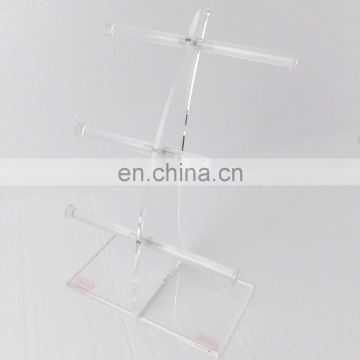 Exhibition Stand Organizer : Tie acrylic bangle display stand for retail display jewelry