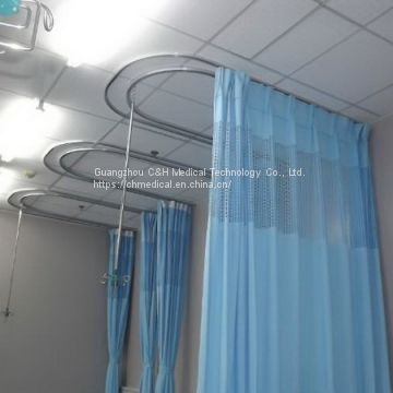 Polyester Material Fabric Cubicle Curtains and Tracks for Hospital Wards Patient Bed