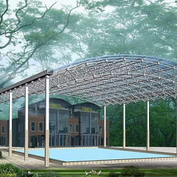 Steel Structure Space Grid Space Frame For Special-shaped Buildings