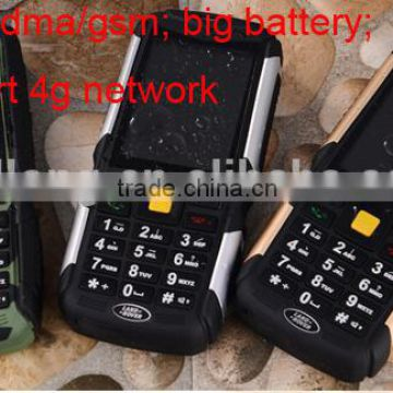 three CDMA/GSM Dual Mode Rugged Mobile Phone 2.4 Inch 3 SIM Card 4500mAh Battery Bluetooth V2.1