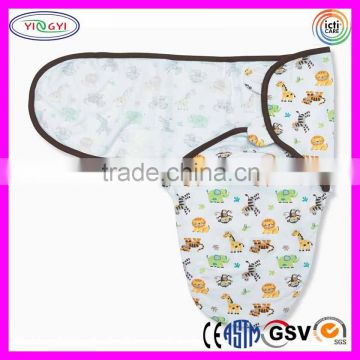 C854 Infant Muslin Fabric Swaddle Blanket Adjustable Infant Wrap Large Muslin Swaddle Blanket Fabric