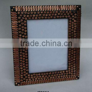 Metal mosaic of copper on MDF Wood Photo frame with polished finish