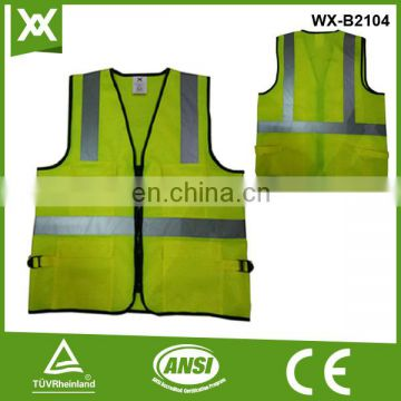 high luminance mesh cloth reflective tape safety railway vest