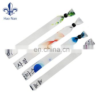 Party giveaways wristband for events with plastic square slide lock