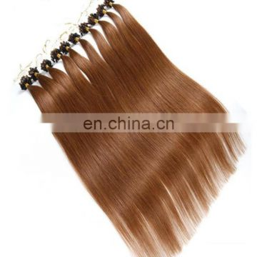 China factory wholesale 100% human hair extension high quality micro ring loop hair cheap price pre-bonded human hair