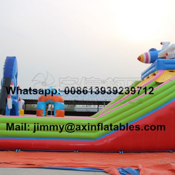 Commercial Airplane Inflatable Bouncer Combo,Jumping Bouncy Castle With Slide,Jumping Bouncy Castle For Kids