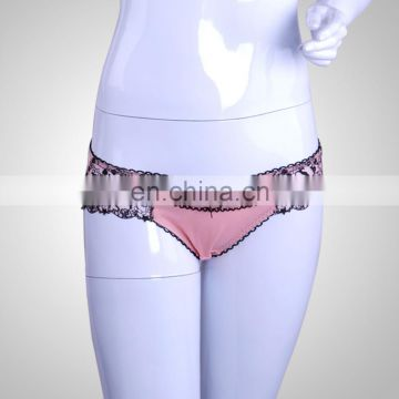 Customized LOGO Fitness Fashion Pink women wearing lace panties