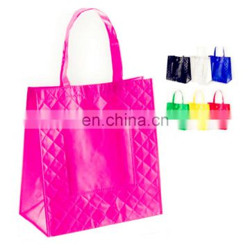 gold gloss color Top Quality Promotion Laminated Non Woven Bag/Non Woven Shopping