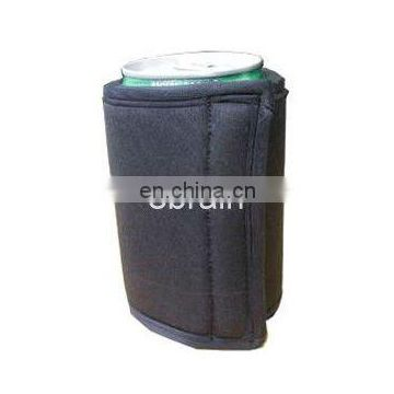 Black Neoprene Can Cooler Without Bottom 335ml