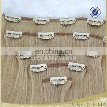 wholesale chinese 220g remy clip in hair extension for white women wet and wavy hair extensions remi human hair extension