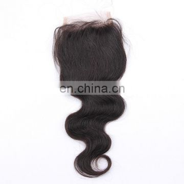 2018 new arrival top selling 4x4 Remy Malaysian hair silk lace pre plucked closure with baby hair top quality