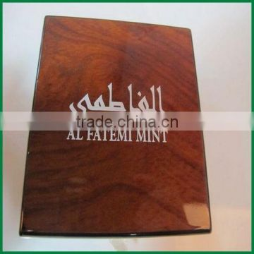 Free sample custom wooden velvet coin saving box case wholesale