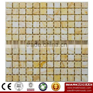 IMARK Honed Spain Beige Marble Stone Mosaic Tile Backsplash Tile Code IVM7-038