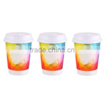 2017 Festival Style New Year Gethering Pasta Match Double Wall 12oz Wholesale Paper Cups
