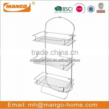 Chrome Plating Metal Wire Bathroom Corner Shelf