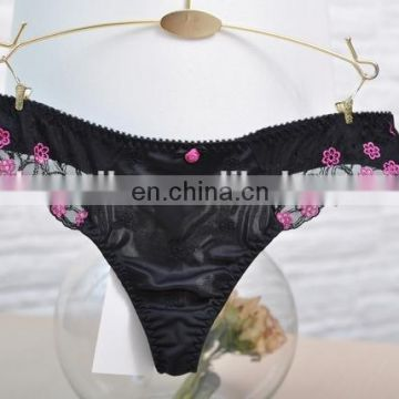 lady girl hot sexy picture see through embroidered thong panty