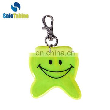 Factory sale various widely used reflective pvc key chain