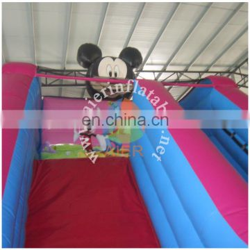 2017 Aier hot sale advertising strong colored inflatable slide