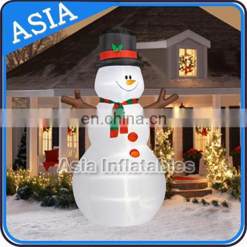 Hot Sale And Giant Funny Light inflatable Snow Man Advertising Balloon