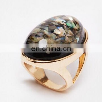 Special design ring, stone ring, gold plated ring, black diamond ring