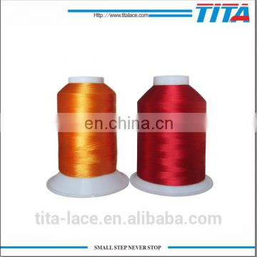 Plastic spool polyester embroidery thread in bulk