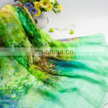 2015fashion style newest high quality silk crepe georgette digital printing shawl(SP858AL)