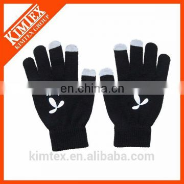 Wholesale touch screen knitted 3 fingers gloves