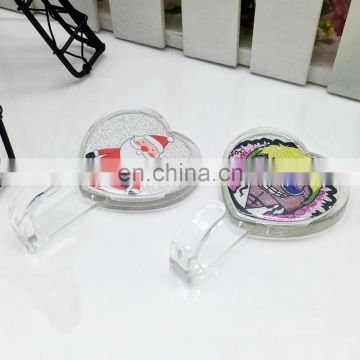 Round custom printed adhesive clear acrylic wall hook
