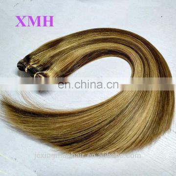 Mixed Color 160g Brazilian Hair Weft Double Drawn Human Hair Extensions