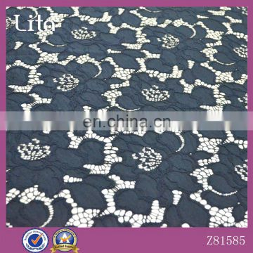 Lita new arrival black fashion nylon french lace fabric for clothing