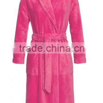 100% Polyester Coral Fleece Thick Robe/women towel robe/bathrobe/gown/ bath robe/Ultrasoft Plush Bath Robe for adult