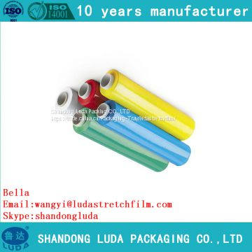 Specializing in the production of color pallet stretch wrap film roll