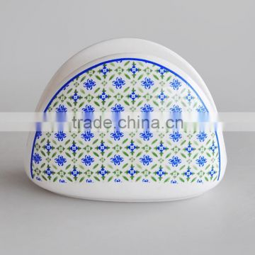 Ceramic Napkin Holder with Decal