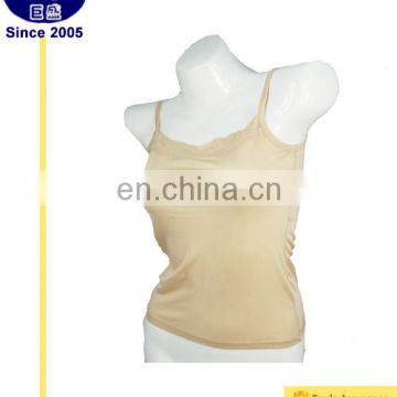 Womens 100% pure silk knitted camisole