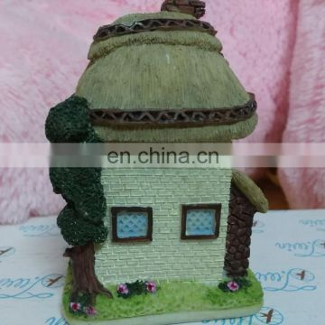 factory directly sale cute mini house miniature resin figurines of house