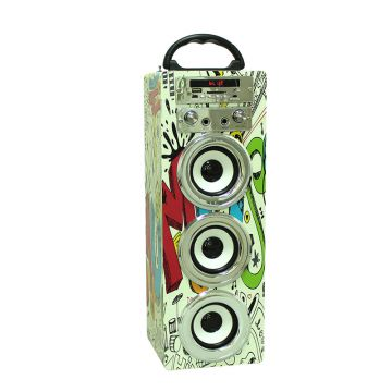 2.1 Audio Virtual Sound FM Radio Good Voice Wireless Portable Speaker USB/TF card/BT with Microphone Function for Party