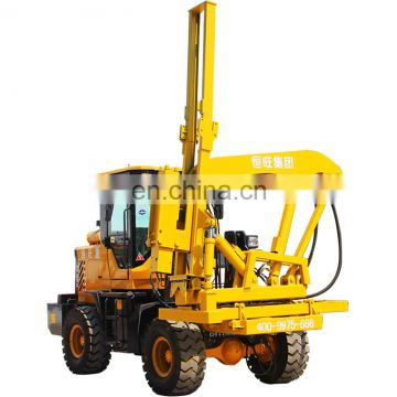 Pole erection equipment Highway Guard Rail Fence Post Pile Driver Machine