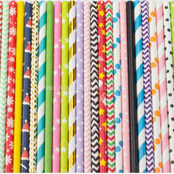 Stripe Funny Environmental Protection Creative paper Straws for Bar Party Store