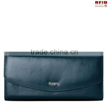Rfid Blocking Security Genuine Leather Women Purse,ladies wallet,women wallet                                                                         Quality Choice