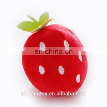high quality manufacturer custom fruits peach and strawberry cute stuffed plush toy pillow