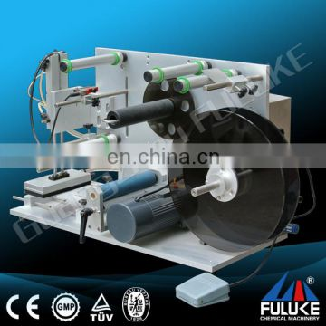 Fuluke automatic vertical adhesive labeling machine for round bottles