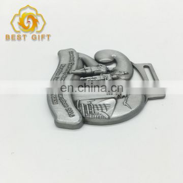 Wholesale Custom Antique Sliver Plated Souvenir Metal Sports Award Medal