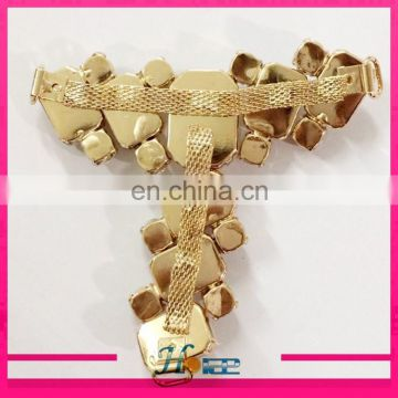 factory supply cheap rhinestone slipper accessories sandal decoration
