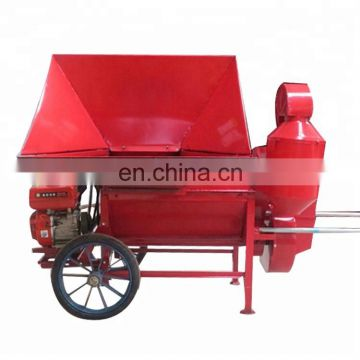 Pea threshing and peeling machine home use movable wheat and rice thresher Rice wheat sorghum millet breeding machine