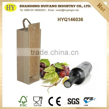 unfinished factory wholesale wood wine box
